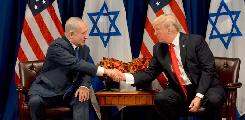 Trump and Netanyahu Photo: Avi Hayon GPO